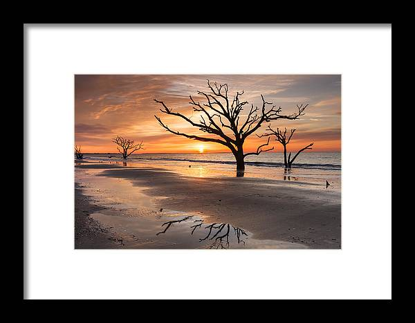 Sunrise Framed Print featuring the photograph Awakening - Beach Sunrise by Carol VanDyke