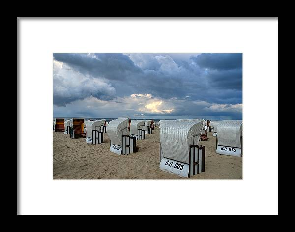 Ostsee Framed Print featuring the pyrography Beach Time by Steffen Gierok