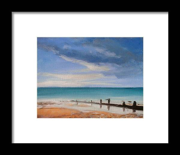 Beach Framed Print featuring the painting Beach View 1 by Paul Mitchell