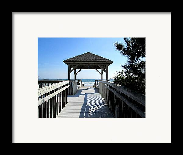 Beach Framed Print featuring the photograph Beach Walk by Silvie Kendall