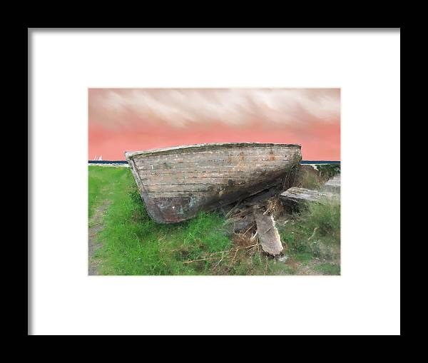 Boats Framed Print featuring the painting Beached by Ian Parker