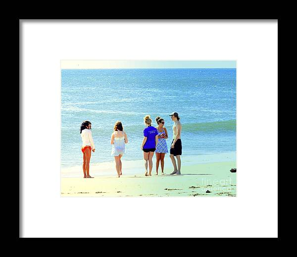 Beach Framed Print featuring the photograph Beaches Of Point Pleasant Nj by Sue Rosen