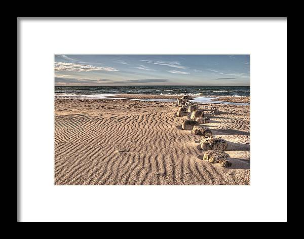 Ostsee Framed Print featuring the pyrography Bealtic Beach by Steffen Gierok