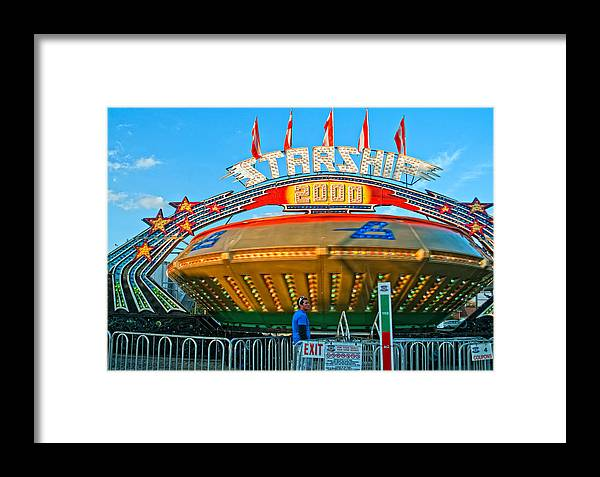 Bolton Fall Fair Framed Print featuring the photograph Beam Me Up Scotty by Steve Harrington