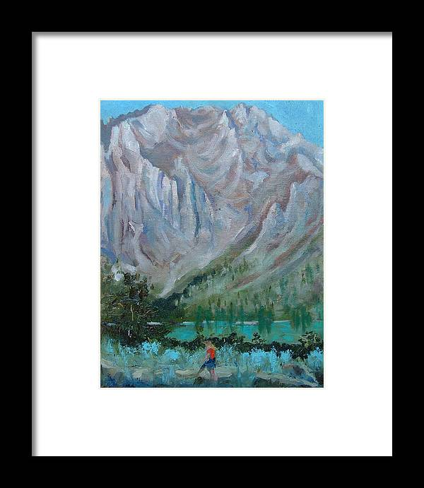 Landscape Framed Print featuring the painting Bear Bait by Bryan Alexander