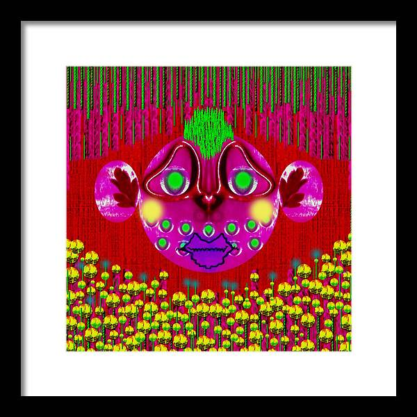 Bear Framed Print featuring the mixed media Bear Without Berries by Pepita Selles