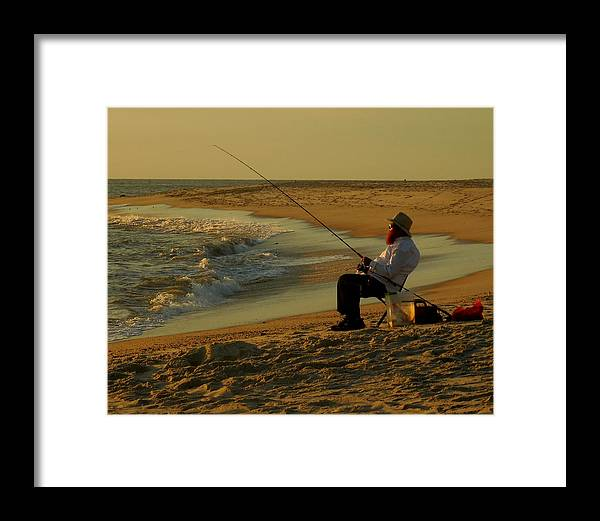 Fisherman Framed Print featuring the photograph Bearded Fisherman by Glenn McCurdy