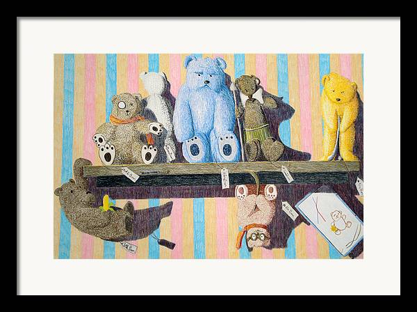 Still Life Framed Print featuring the painting Bearly There by A Robert Malcom