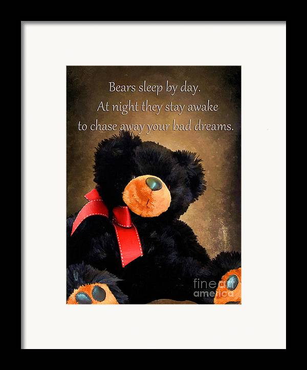 Animal Framed Print featuring the photograph Bears Sleep By Day by Darren Fisher