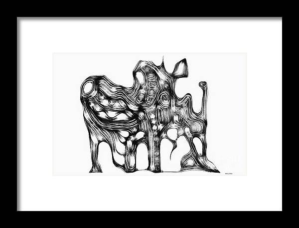 Graphic Framed Print featuring the digital art Beast 711 - Marucii by Marek Lutek