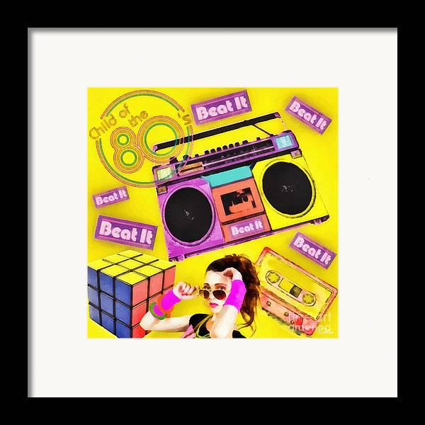 Beat It Framed Print featuring the digital art Beat It by Mo T