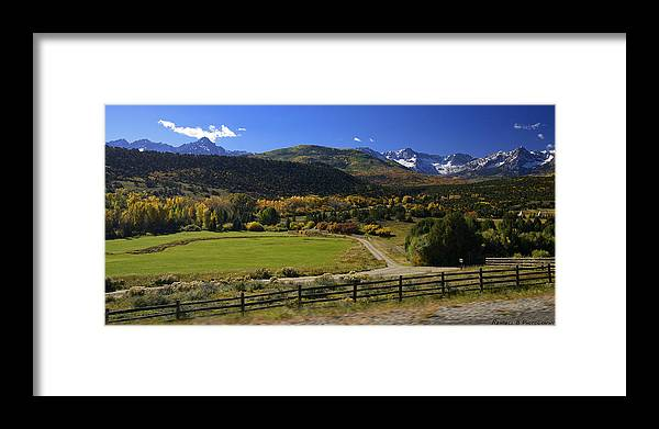 Colorful Landscape Framed Print featuring the photograph Beatiful Ranch Shot From The Highway by Rendell B