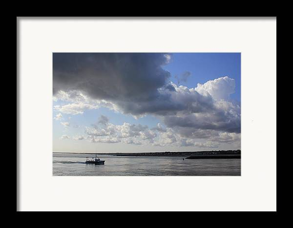 Cape Cod Canal Framed Print featuring the photograph Beating The Storm by Amazing Jules