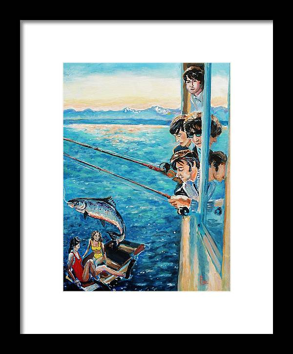 Beatles Fishing Framed Print by Shannon Lee