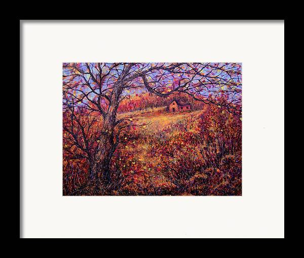 Autumn Framed Print featuring the painting Beautiful Autumn by Natalie Holland