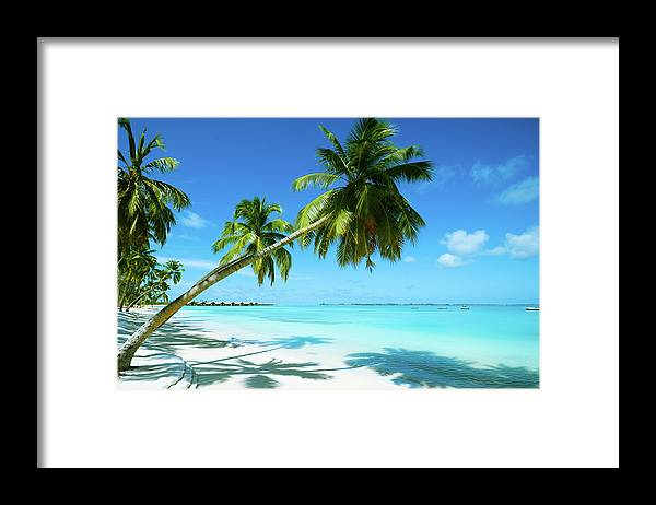 Water's Edge Framed Print featuring the photograph Beautiful Beach Resort by Phototalk