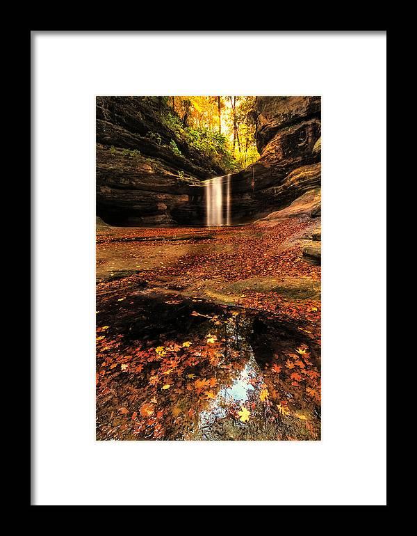 Beautiful Framed Print featuring the photograph Beautiful Canyon And Waterfall by Sushmita Sadhukhan