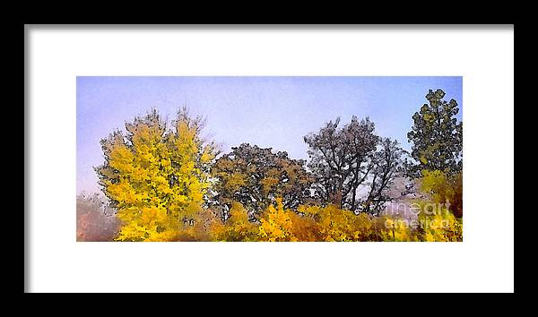 Background Framed Print featuring the painting Beautiful Colorful Autumn Leaves by Odon Czintos