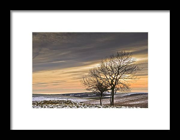 Beautiful Framed Print featuring the photograph Beautiful Colorful Winter Sunset by Matthew Gibson