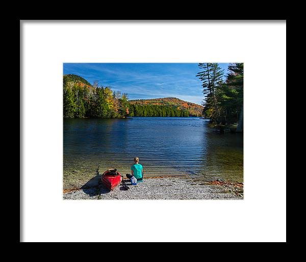 Fall Framed Print featuring the photograph Beautiful Day To Kayak by Vance Bell