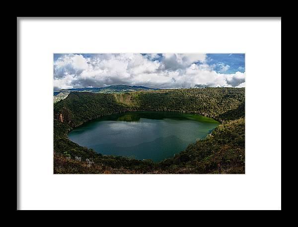 Lake Framed Print featuring the photograph Beautiful Lake Guatavita by Jess Kraft