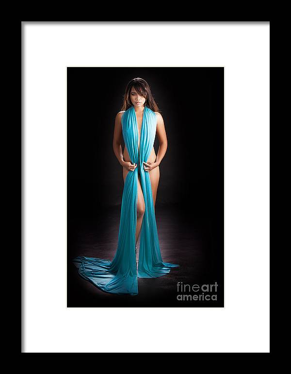 Asian Nude Framed Print featuring the photograph Beautiful Oriental Asian by Kendree Miller