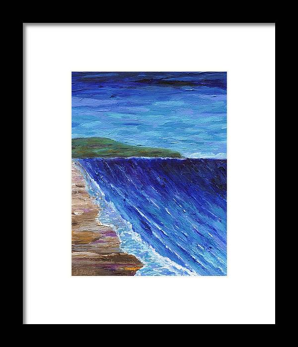 Seascape Framed Print featuring the painting Beautiful Palos Verdes 2 by Jamie Frier
