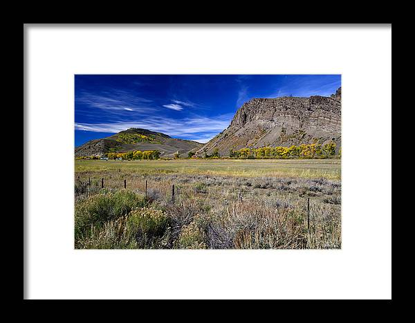 Fall Colors Framed Print featuring the photograph Beautiful Ranch In The Fall by Rendell B