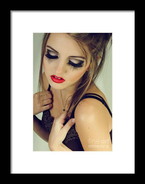 Beautiful Framed Print featuring the photograph Beautiful Sad Woman by Sarka Olehlova