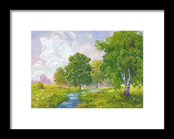 Scenics Framed Print featuring the digital art Beautiful Summer by Pobytov