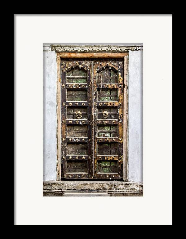 India Framed Print featuring the photograph Beautiful Woodwork From Rajasthan by Catherine Arnas