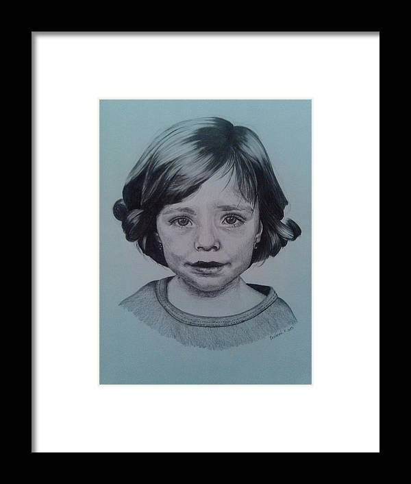 Picture Framed Print featuring the painting Child by Milan Matyas
