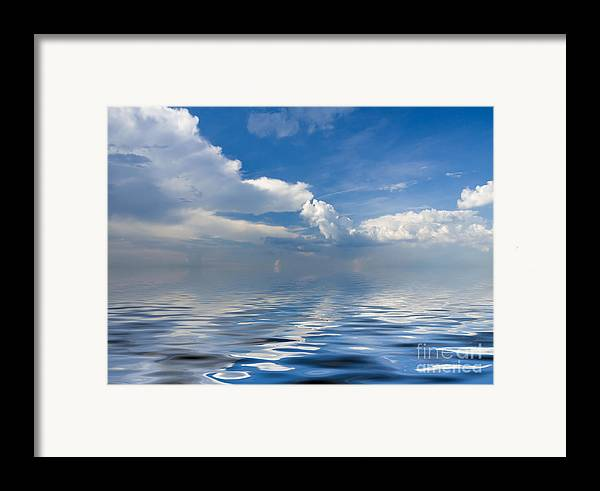 Beauty Framed Print featuring the photograph beauty Clouds over Sea by Boon Mee