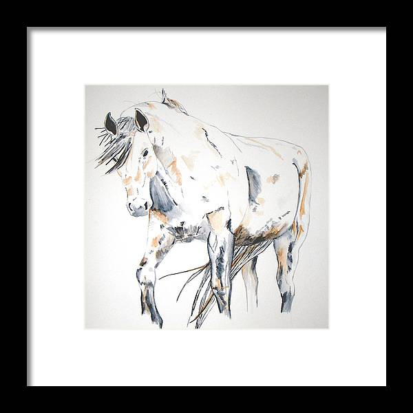 Horse Framed Print featuring the painting Beauty by Crystal Hubbard