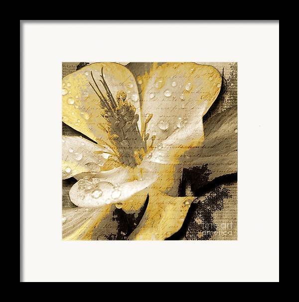 Framed Print featuring the mixed media Beauty Iv by Yanni Theodorou