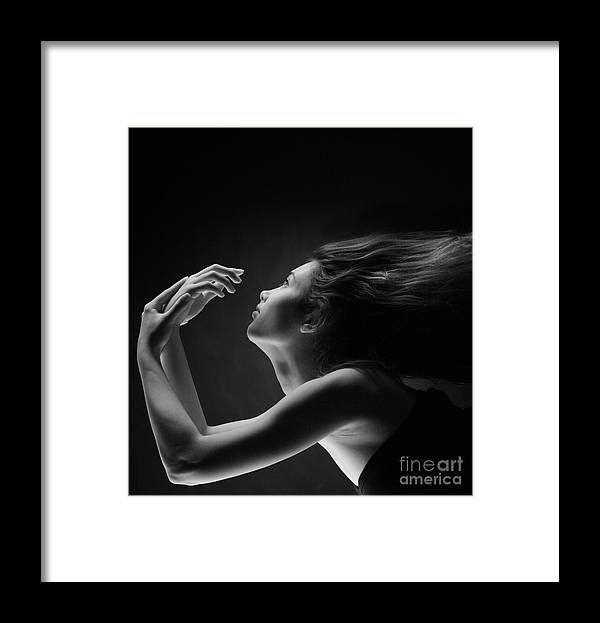 Woman Framed Print featuring the photograph Beauty by Konstantin Sutyagin