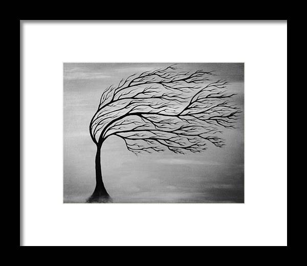 Tree Framed Print featuring the painting Beauty Of Nature by Alina Krasovskaya
