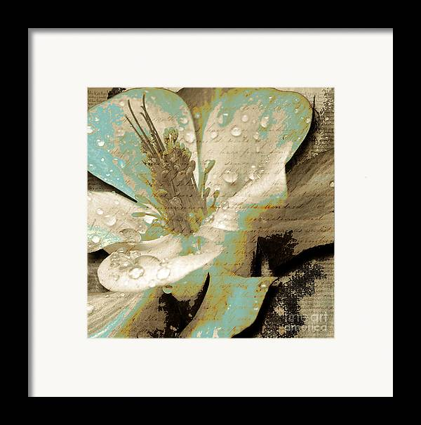 Framed Print featuring the mixed media Beauty V by Yanni Theodorou