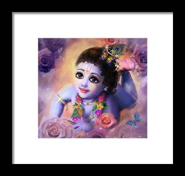 Krishna Art Framed Print featuring the painting Baby Kaneya by Lila Shravani