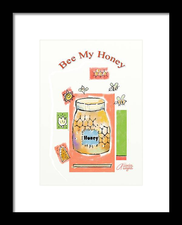 Bee Framed Print featuring the digital art Bee My Honey by Arline Wagner