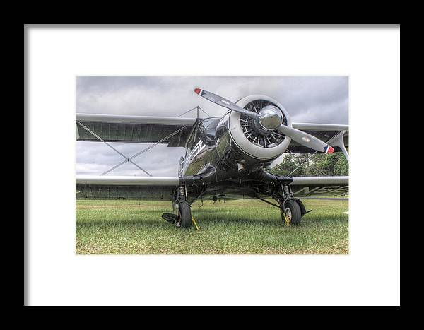 Biplane Framed Print featuring the photograph Beechcraft Staggerwing by Howard Markel