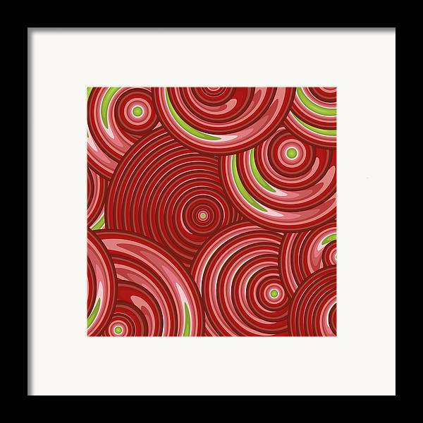 Pink Abstract Framed Print featuring the painting Beetroot Pink Abstract by Frank Tschakert