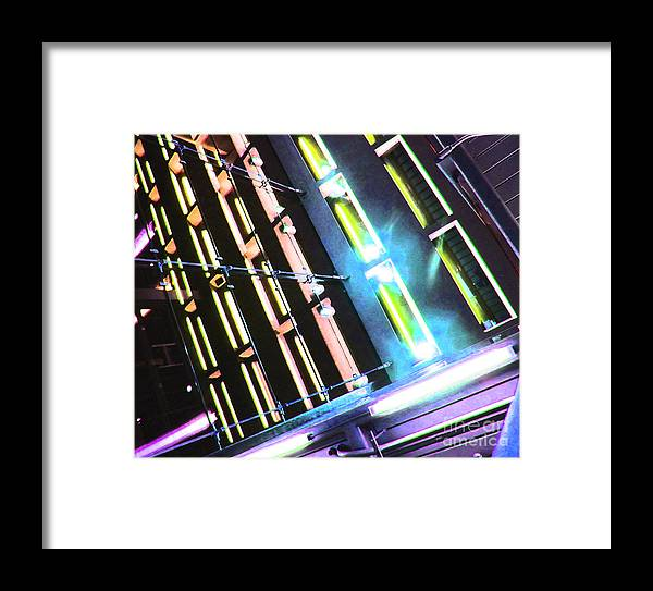 Ron Tackett Framed Print featuring the photograph Hot Neon Nights by Ron Tackett