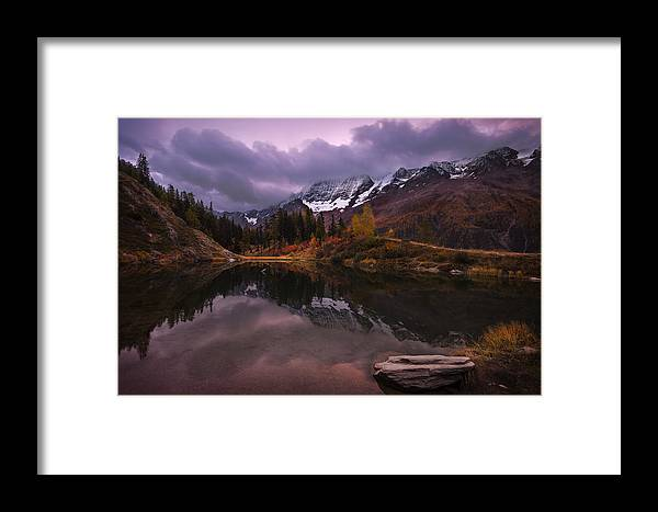 Landscape Framed Print featuring the photograph Before Sunrise by Dominique Dubied