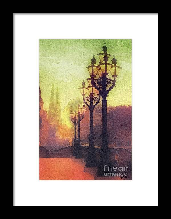 Before Sunrise Framed Print featuring the painting Before Sunrise by Mo T