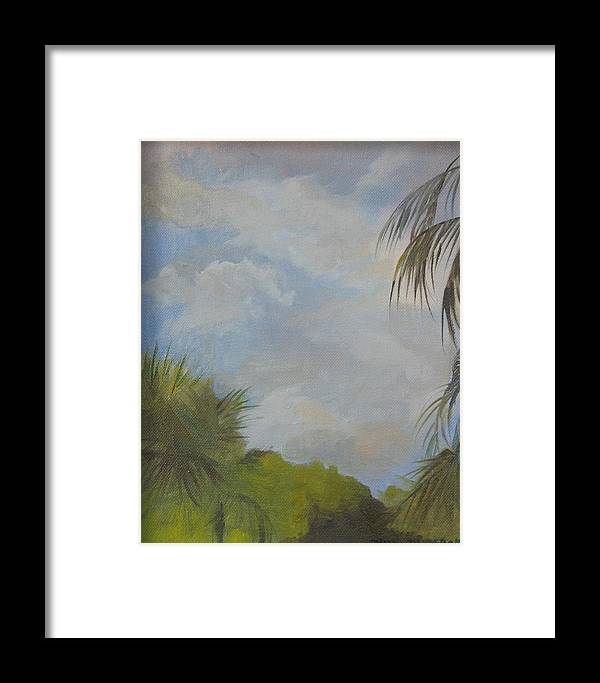 Framed Print featuring the painting Before The Rain by Julie Orsini Shakher