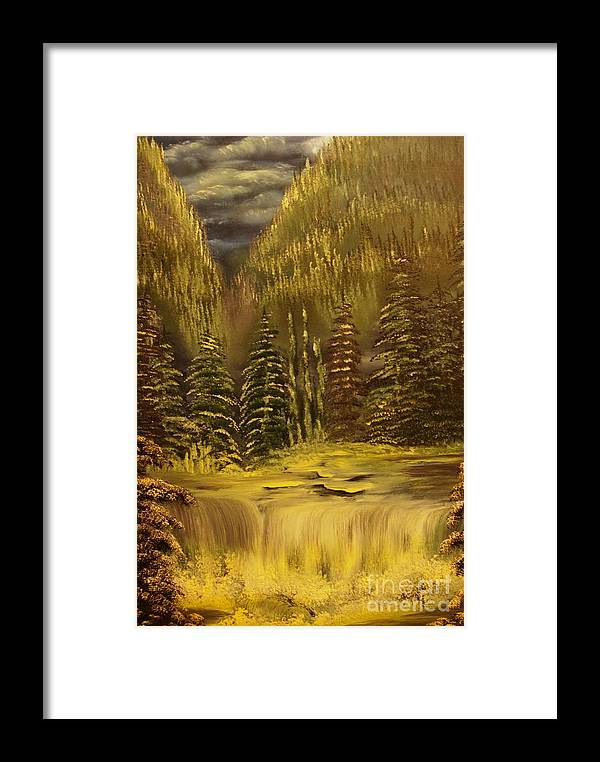 Waterfalls Framed Print featuring the painting Before The Storm-original Sold-buy Giclee Print Nr 37 Of Limited Edition Of 40 Prints by Eddie Michael Beck