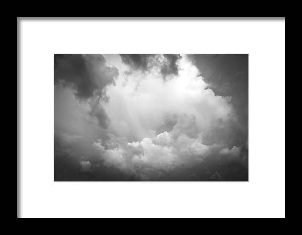Clouds Framed Print featuring the photograph Before The Storm Clouds Stratocumulus Bw 7 by Rich Franco