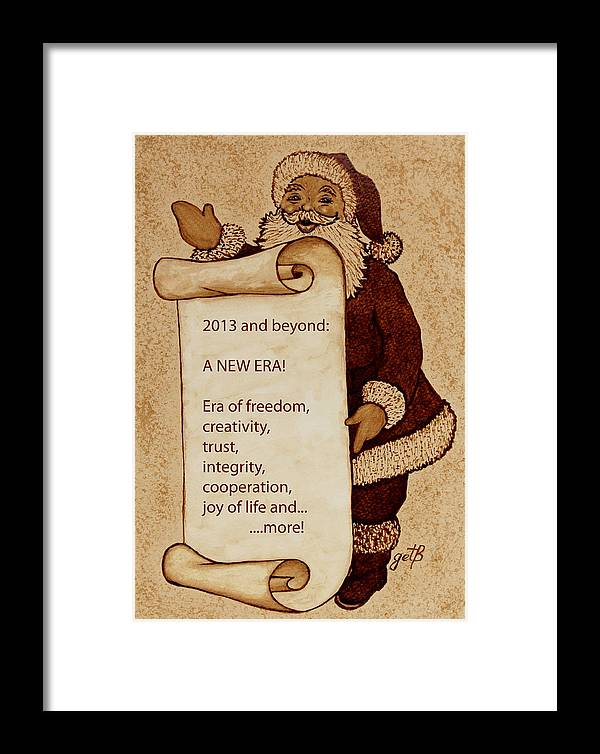 Santa Claus Framed Print featuring the painting Begining Of A New Era by Georgeta Blanaru