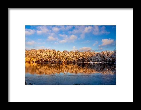 Zegrze Framed Print featuring the photograph Beginning Of Winter by Julis Simo